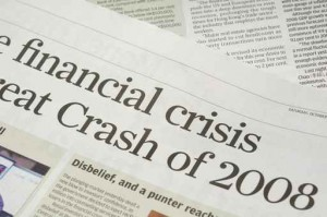 Newspaper headlines - finanical crisis on 2008