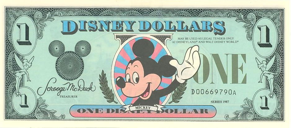 Disney (Dollar)1 Front
